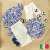 For the dad and the son, tell me if he's not too cute 🥰 we love matchy-matchy 😍🇮🇹 •contact us for more information, shipments all over the world • 🛍🌍 #maiolicadesign #sorrento #fashion #linen #italy #summer #shirts #bermuda #dad #son #socute #100linenmadeinitaly